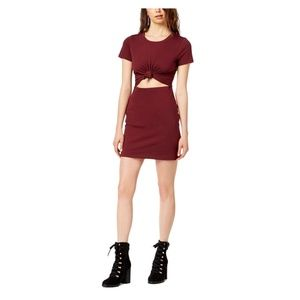 NWT Socialite Tie-Front Cut Out Casual Dress